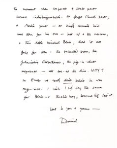 34151A vehement letter critical of Tony Blair, George W. Bush, Donald Rumsfeld, and Dick Cheney