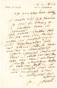 34183Letter mentioning his ground-breaking introductory lectures on psychoanalysis