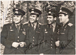 34276Rare Signed Photograph of the First Four Russian Cosmonauts