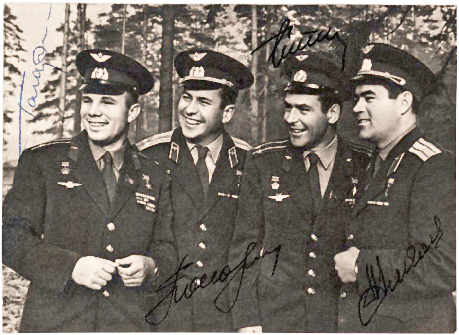 Rare Signed Photograph of the First Four Russian Cosmonauts