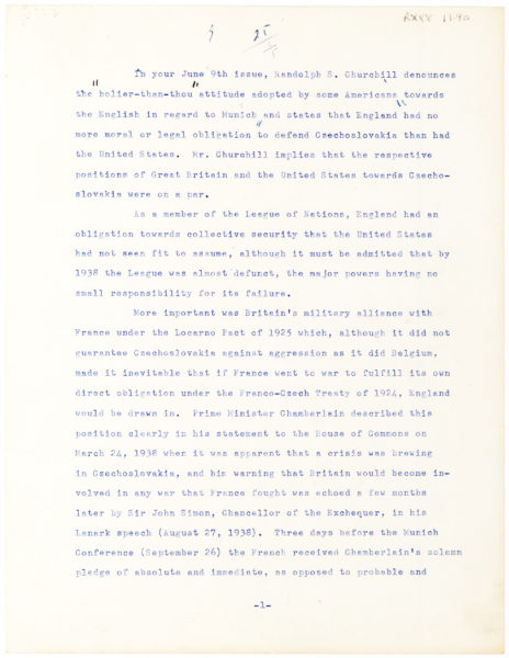 Letter to Her Likely Lover, Roswell Gilpatric, Advisor to Presidents John F. Kennedy and Lyndon B. Johnson