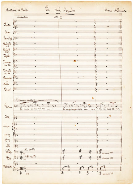 "Very Rare Letter Signed by the Composer of ""La Paloma,"" One of the Most Popular Melodies Ever Written, and a Favorite of Emperor Maximilian of Mexico"