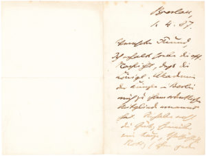 34374Autograph Letter Signed about his Acceptance into Berlin's Royal Academy of the Arts