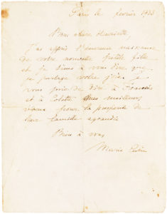 34427Rare, Fully Signed Autograph Letter from Two-Time Nobel Prize-Winning Physicist and Chemist Marie Curie