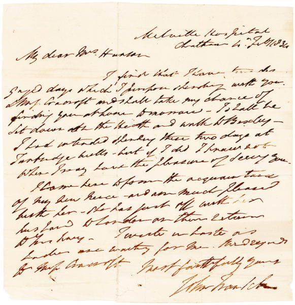 "Autograph Letter Signed as President to Lady Jane Franklin about Her Missing Husband, Explorer Sir John Franklin, ""A man who has contributed so much to the world's knowledge"""