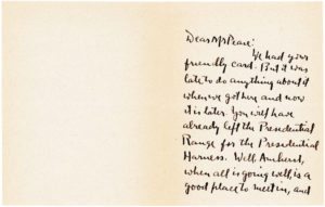 """Autograph Letter Signed by Robert Frost, American Poet and Winner of Four Pulitzer Prizes, Author of Such Beloved Poems as """"The Road Not Taken,"""" """"Mending Wall"""" and """"Stopping by Woods on a Snowy Evening"""""""