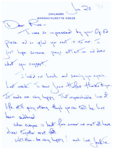 34517Jacqueline Kennedy Autograph Letter to her Intimate Friend, Roswell Gilpatric, Advisor to Presidents John F. Kennedy and Lyndon B. Johnson