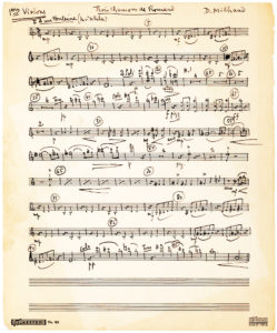 """Three-Page AMusMsS from his """"Trois Chansons de Ronsard,"""" Written for Lily Pons"""