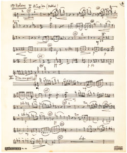 "Three-Page AMusMsS from his ""Trois Chansons de Ronsard,"" Written for Lily Pons"