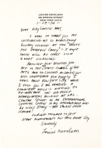 "34584A Letter to American Actress and Arts Advocate Kitty Carlisle-Hart: ""You will understand how deeply I feel about New York City…"""