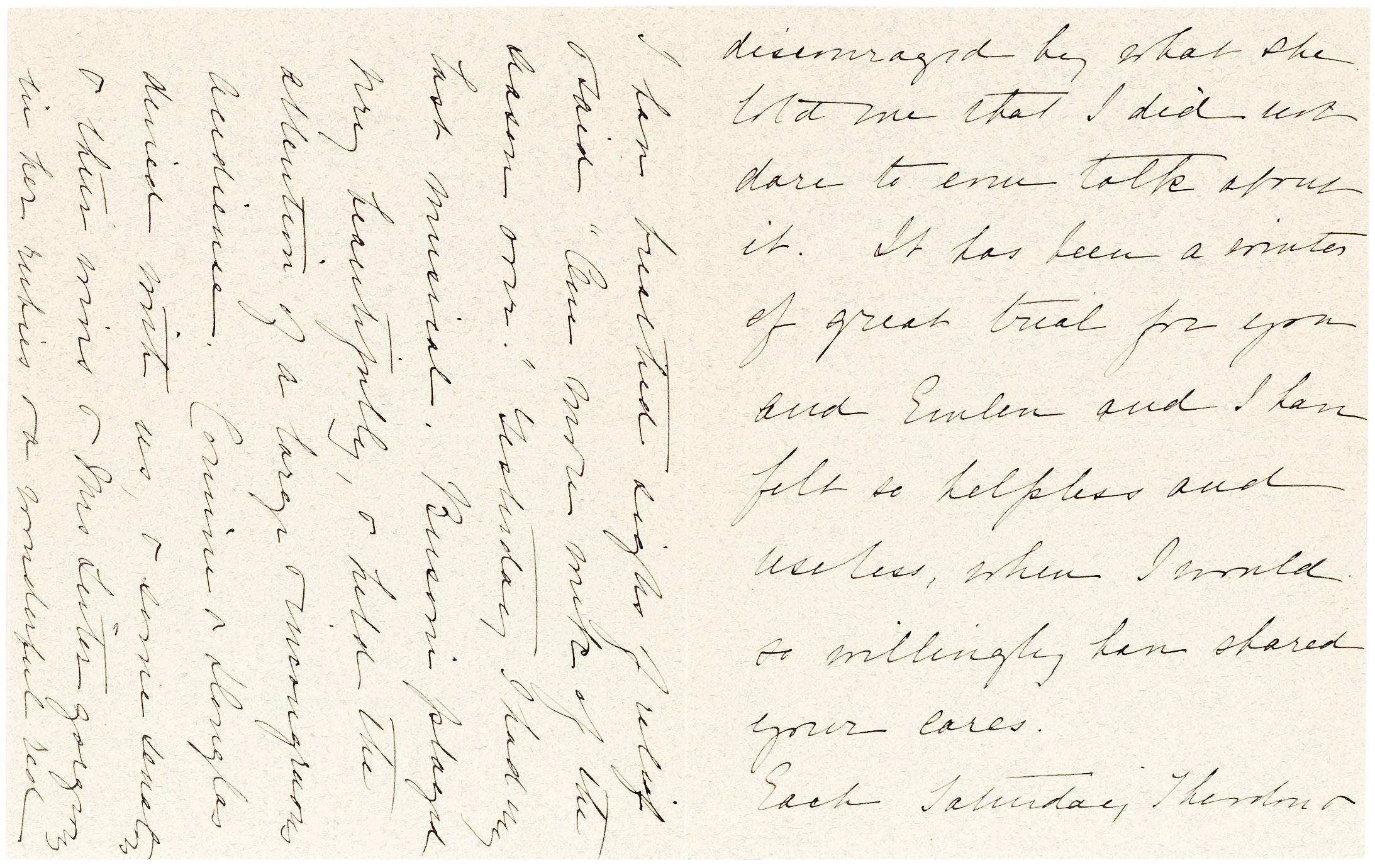 """Autograph letter on White House stationery from First Lady and second wife of Theodore Roosevelt, Edith K. Roosevelt: """"Each Saturday Theodore & I have breathed sighs of relief"""""""