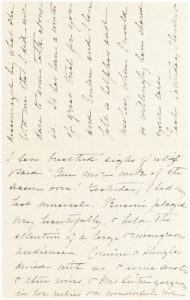 """Letter from the First Lady and Second Wife of Theodore Roosevelt: """"Each Saturday Theodore & I have breathed sighs of relief"""""""