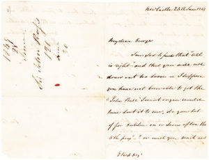 34614Autograph Letter Signed by the English Polar Explorer Who Led the Third Expedition in Search of Sir John Franklin