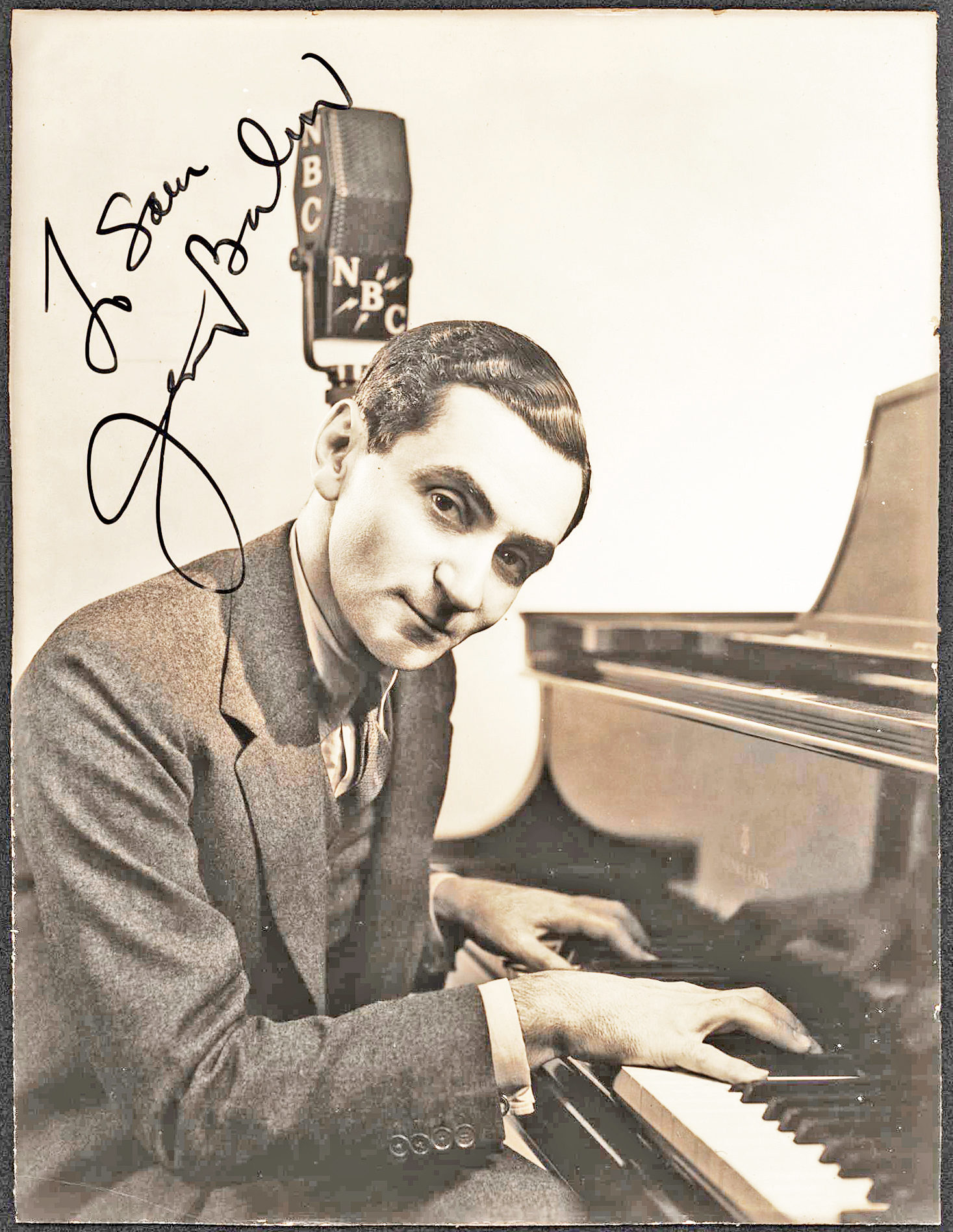 Boldly Signed Vintage Photograph of the Hugely Popular Russian-Born, American Songwriter