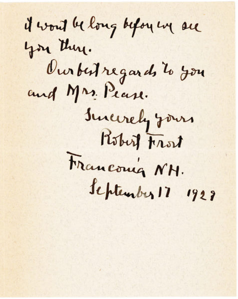 """Typed Postcard Signed to Babette Deutsch about May Swenson, """"She is a true poet"""""""