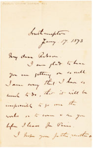 "34504Autograph Letter Signed by ""Chinese Gordon,"" the British Officer Instrumental in Putting Down the Taiping Rebellion"