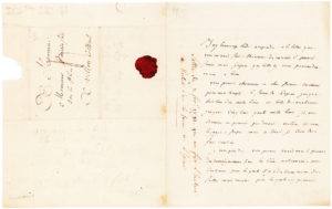 34948Rare Autograph Letter Signed by the French Scientist and Financier, with a Prestigious Provenance