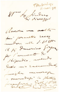 34991Autograph Letter Signed by Modern Italy's Most Successful Opera Composer after Verdi