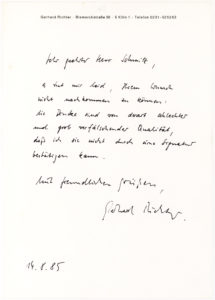 34773Rare Letter from the German Artist Disowning a Work of Art