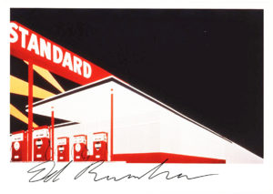 35037Signed Postcard of his Classic Standard Station, Amarillo, Texas
