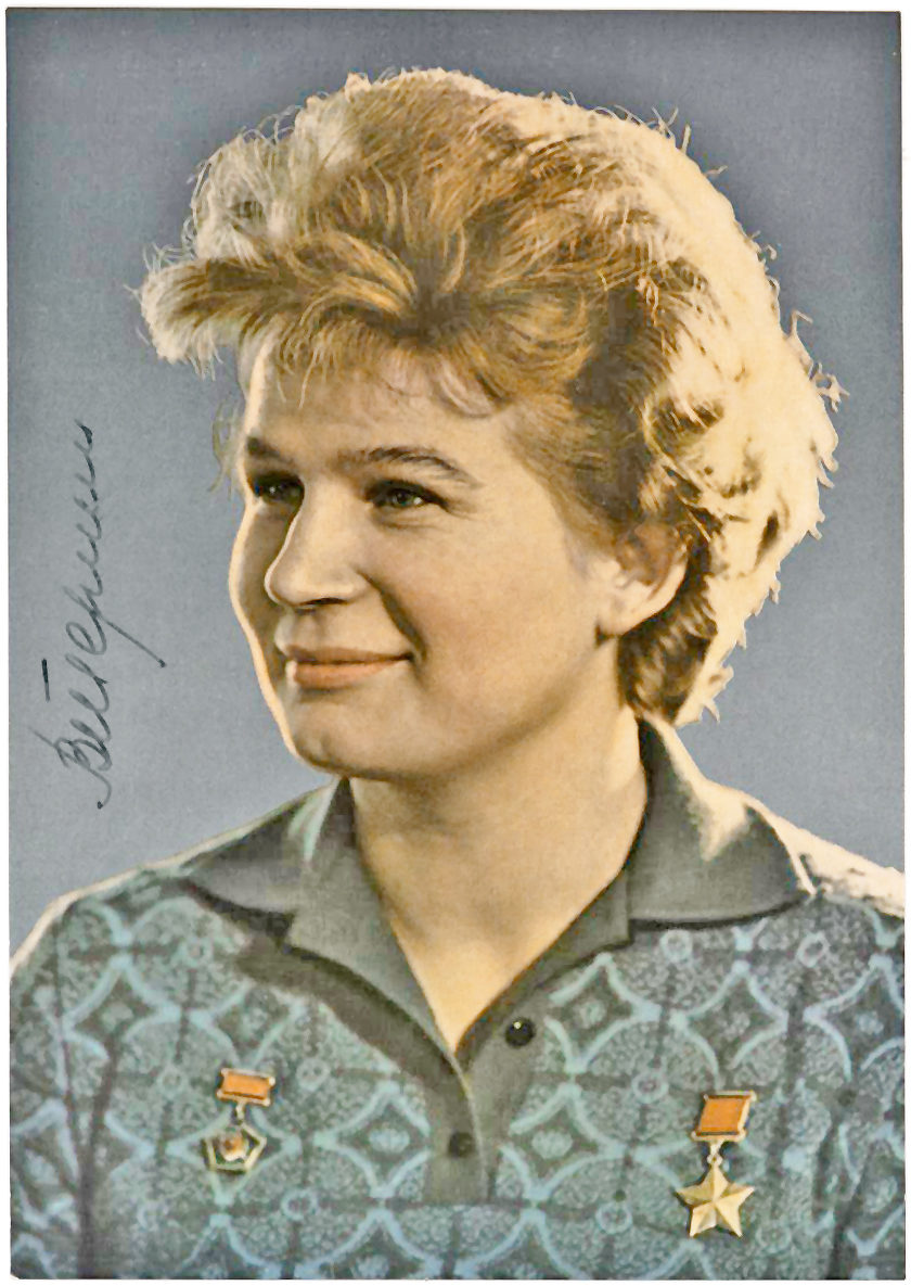 Signed Photograph of the First Woman (and First Civilian) in Space