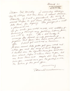 35152Uncommon Autograph Letter by One of America's Leading Pop Artists