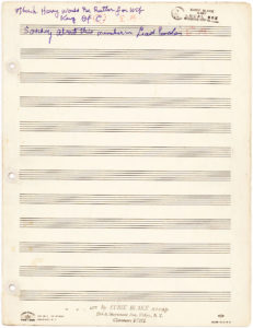 "34343Full Autograph Manuscript of ""I'm Just Wild about Harry"" with Notes and Signature"