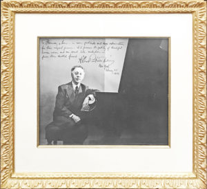 35881Enormous Arthur Rubinstein Signed Photograph Inscribed to Steinway & Sons