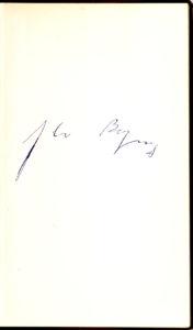 """36113Rare Borges Signature in """"Borges und Ich"""", German Edition of his """"El hacidor"""" (1960)"""