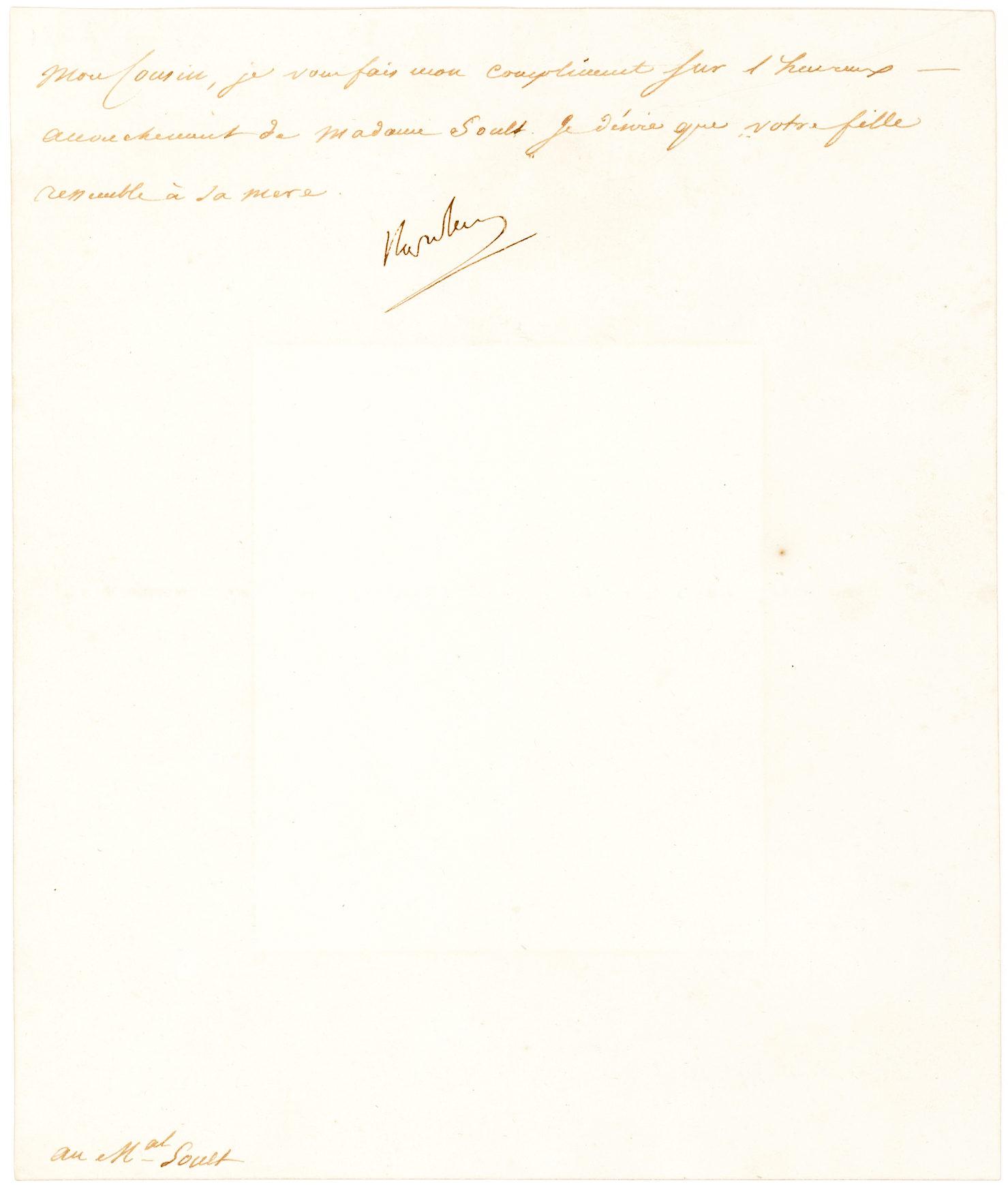 Rare Full Signature Napoleon Letter as Emperor