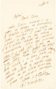 Rimsky-Korsakov Handwritten Letter on Musical Matters