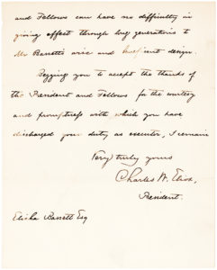 36165Rare Early Letter by the President of Harvard about a Bequest