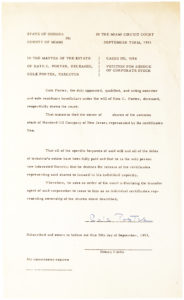 Unusual Circuit Court Document Signed by the Great American Composer