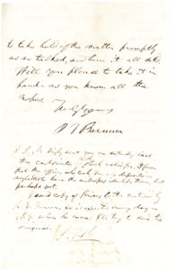 Autograph Letter Signed by the American Showman and Entrepreneur, on Financial Investments
