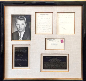 36332In a Framed Autograph Letter, RFK Jokes about Gangsters to Pioneering Washington Journalist Sarah McClendon