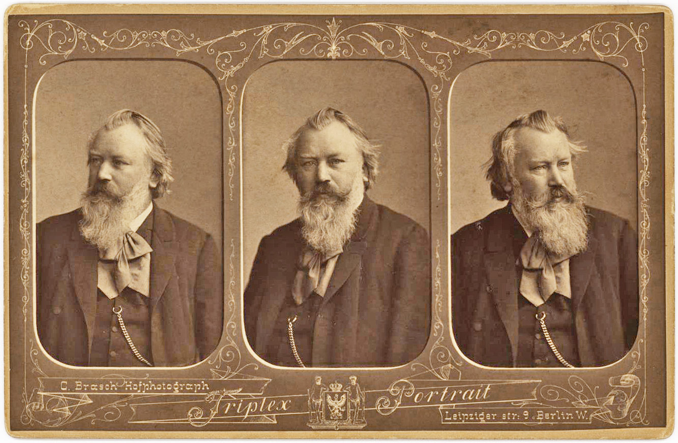 "Famous ""Triplex"" Portrait with a Delightful Inscription from the Composer"