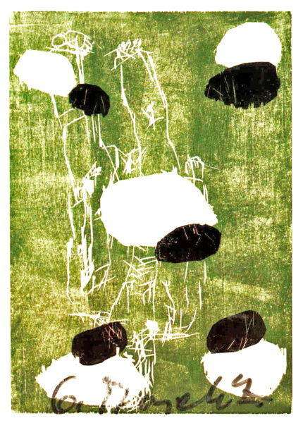Signed Color Postcard of his work Salut les copains