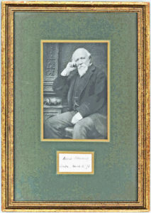 36701Framed Signature by One of England's Greatest 19th-Century Poets