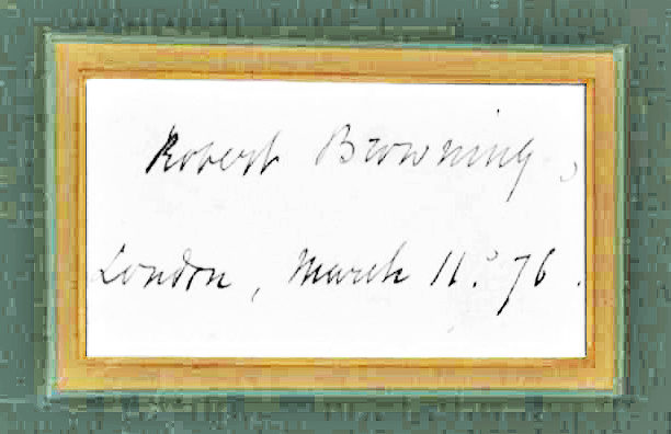 Framed Signature by One of England's Greatest 19th-Century Poets