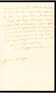 Fine Autograph Letter Declining to Ask a Wealthy Southern Cotton Planter for a Contribution