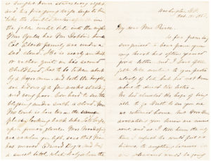 36882The Future First Lady of the Confederacy Writes to Former First Lady Jane Pierce on the Eve of the Civil War
