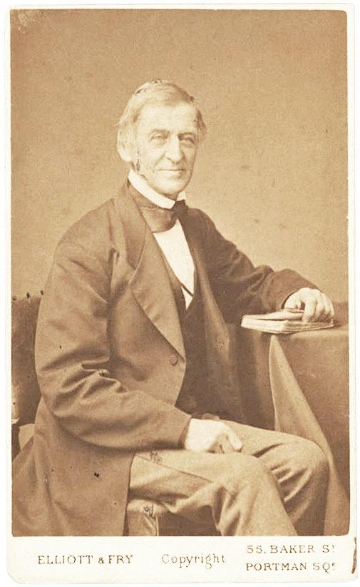 Magnificent Elliott & Fry Carte-de-Visite Signed Photograph of the American Poet and Essayist