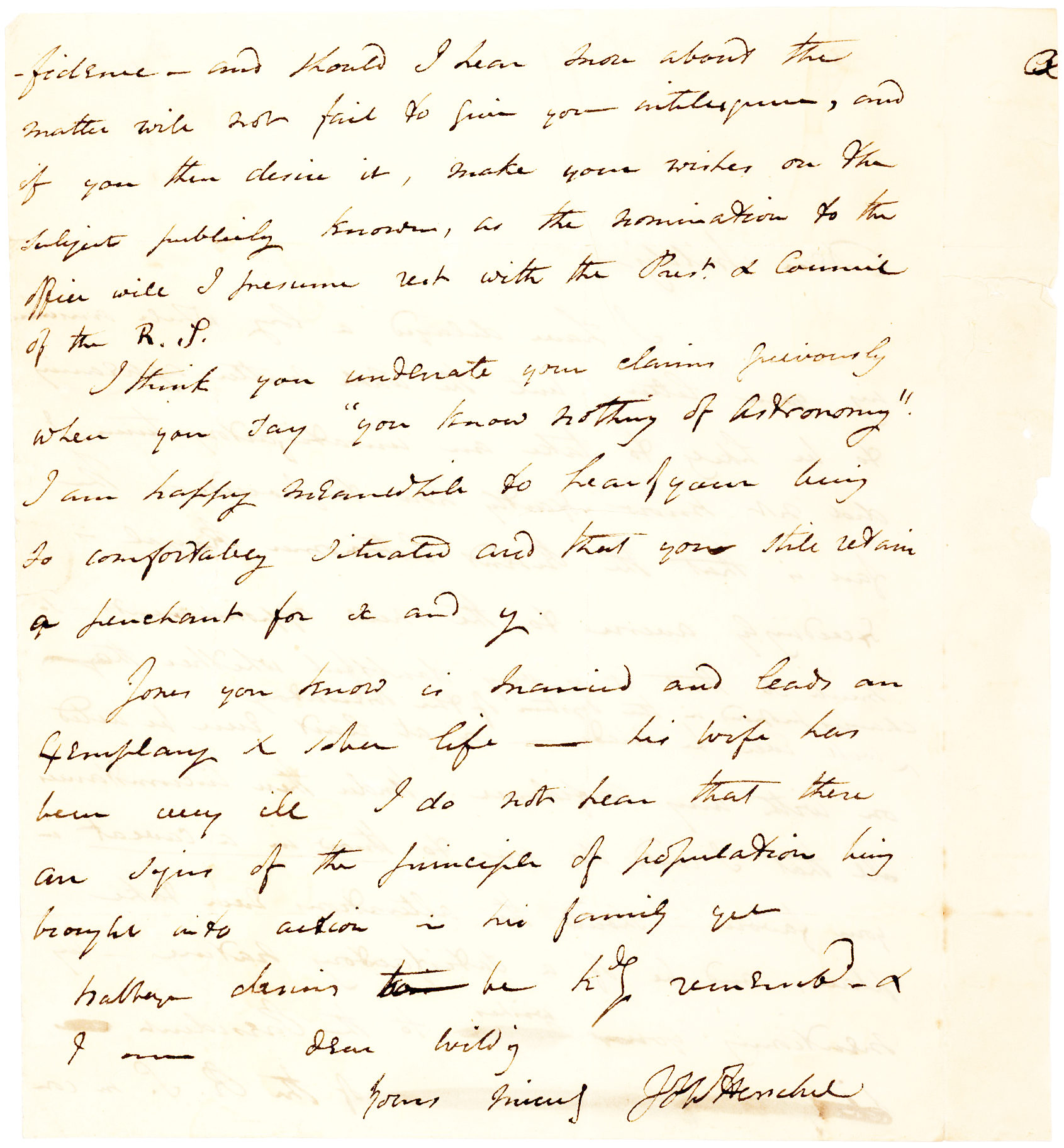 Autograph Letter from the English Polymath, Astronomer and Photography Pioneer, Mentioning Digital Computer Pioneer Charles Babbage