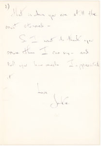 37030The Future First Lady Writes to a Friend about the Death of her Father