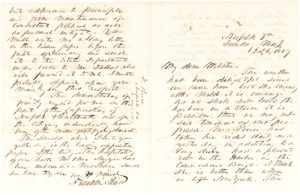 Remarkable Letter about the Lecompton Constitution and its Political Consequences
