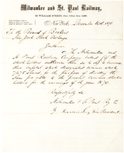 37173Railroad Mogul Writes to the New York Stock Exchange