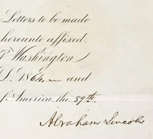 A 10 Out of 10 Lincoln Signature on a Document Related to Prince Albert's Royal German Family