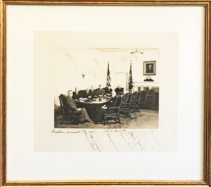 Stunning Photograph Signed by FDR and his Second Term Cabinet