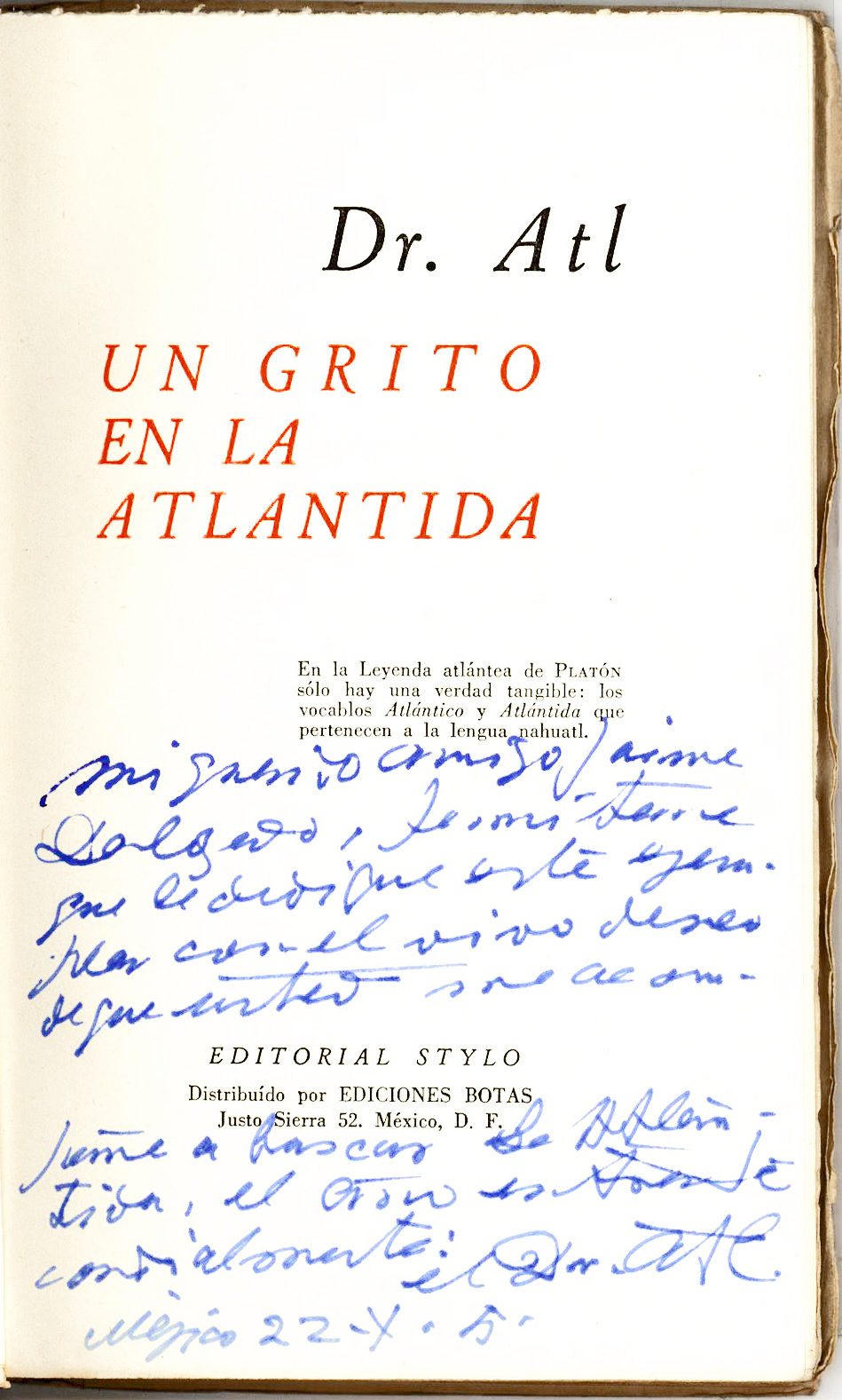 A Book Signed by the Author Whose Work Inspired John Steinbeck's The Pearl