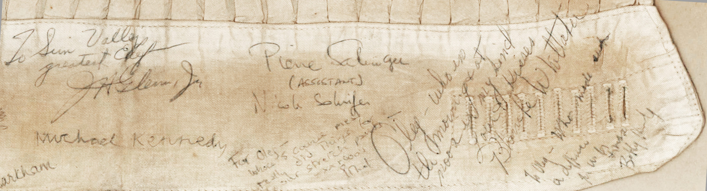 "Remarkable Autographed Kennedy Family Post-""Camelot"" Artifact from the Estate of Fashion Designer Oleg Cassini"